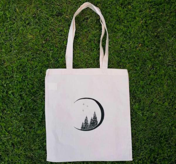 Taška - ručně malovaná Měsíc