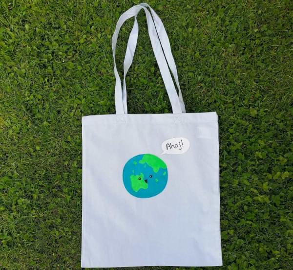 Taška - ručně malovaná Roztomilá planetka