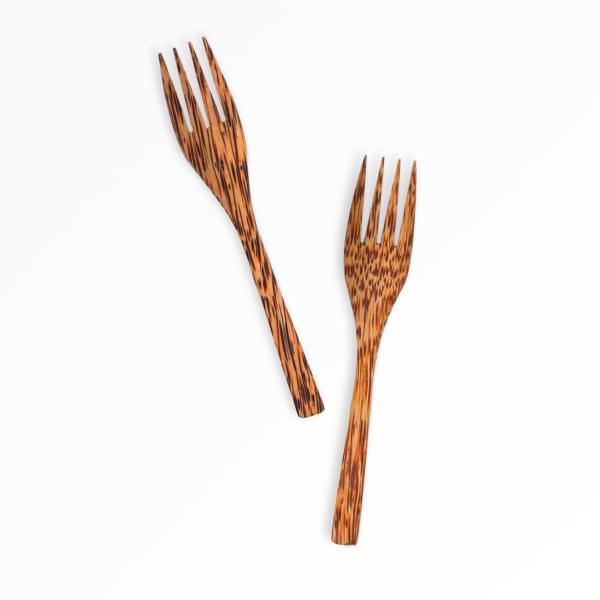 Vidlička z kokosového dřeva